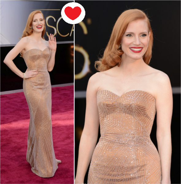 Jessica Chastain Armani Privé exclusivo