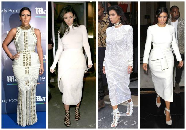 Kim Kardashian - branco