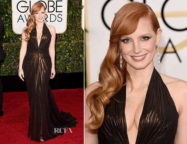 Jessica-Chastain-In-Atelier-Versace-2015-Golden-Globe-Awards